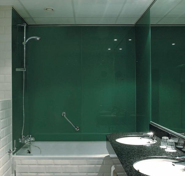 szklo lakierowane malopolska montaz krakow - Kolorowe szkło (Lacobel) w łazience