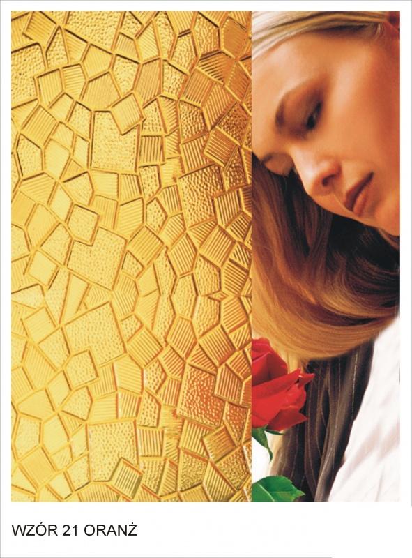 ornament wzor 21 oranz krakow mojeszklo szyby ozdobne - Szkło ornamentowe - ozdobne i dekoracyjne