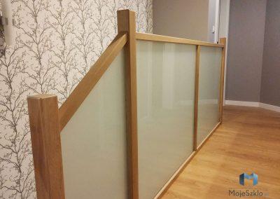 Balustrada Szklana W Drewnianej Ramie