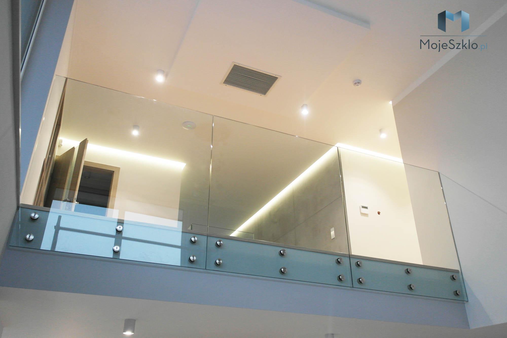 Balustrady Szklane Wewnetrzne Na Wymiar - Parsol / Antisol - barwione szkło przeźroczyste