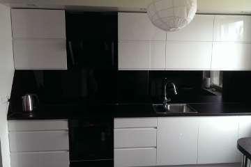 Czarne Panele Szklane - Szkło
