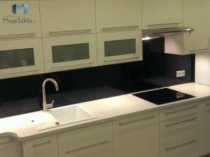 Czarny Lacobel 9005 Kuchnia Panele Szklane z montazem