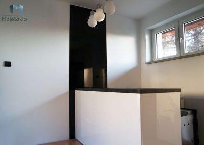 Czarny Panel Szklany Do Kuchni
