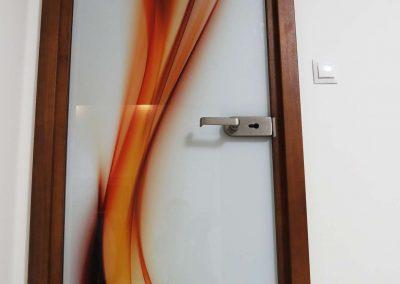 Drzwi Szklane Grafika Abstrakcja