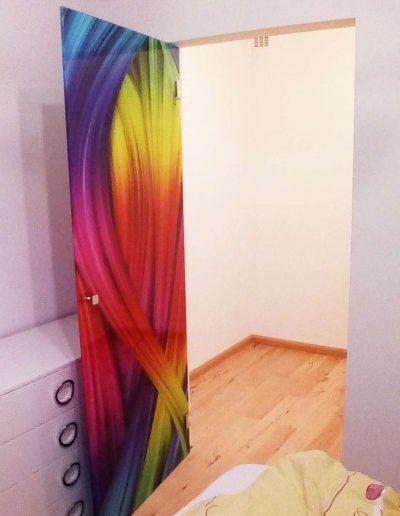 Drzwi Szklane Grafika Tecza