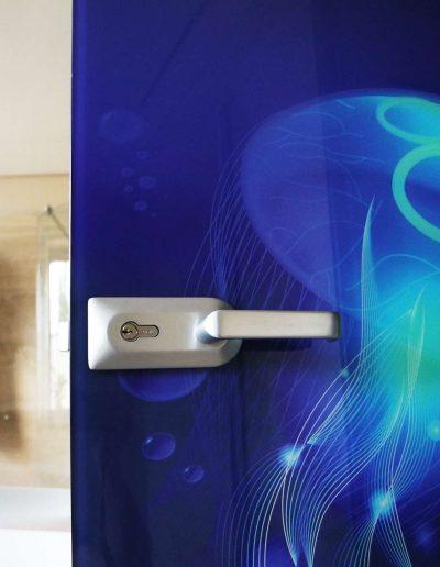 Drzwi Szklane Lacobel Wzory Klamka