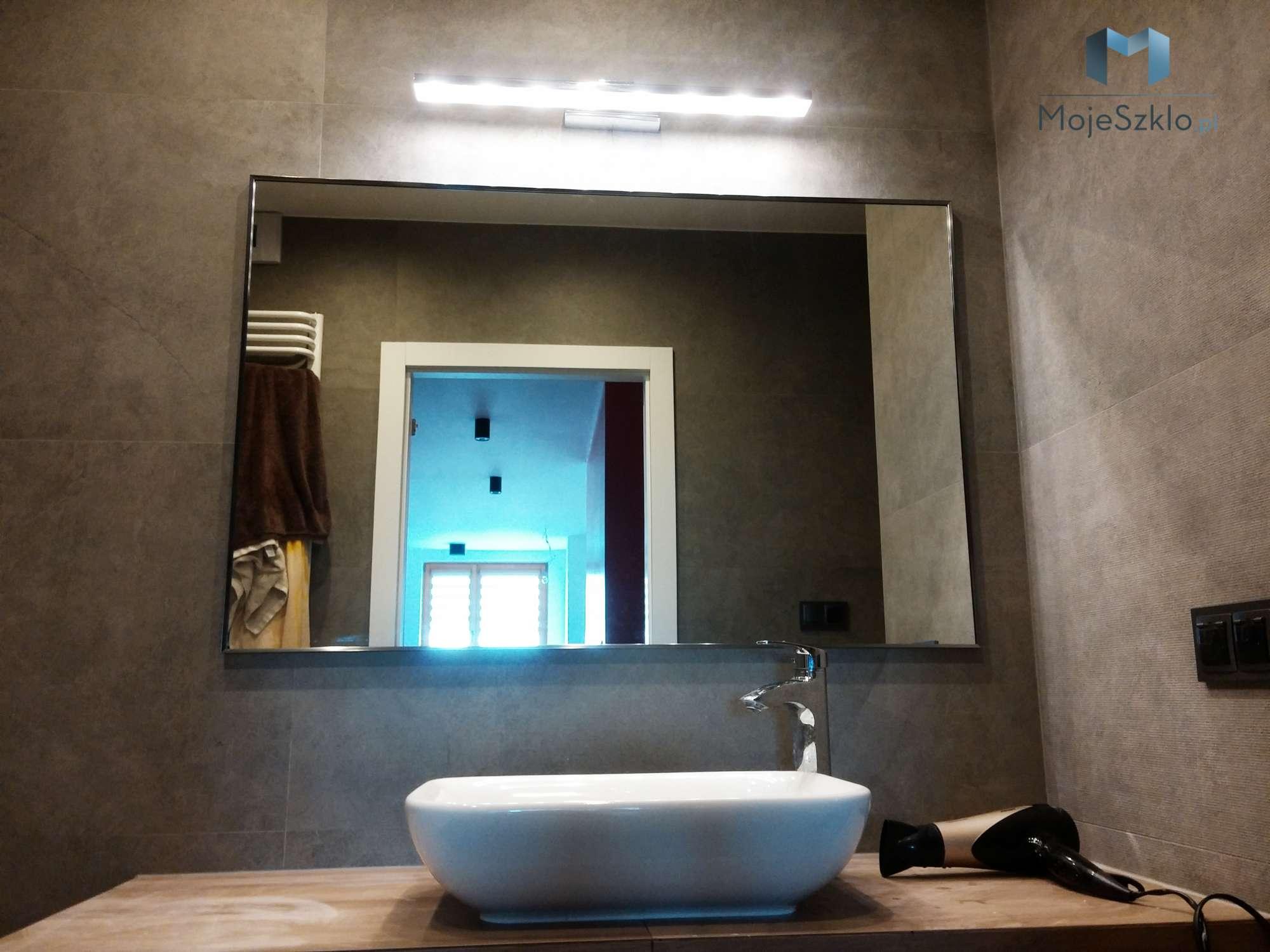 Duze Lustro W Ramie Do Lazienki - Lustro w ramie I Ramy aluminiowe, drewniane, lustrzane