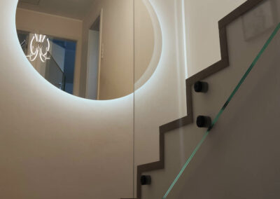 Duze Okragle Lustro LED