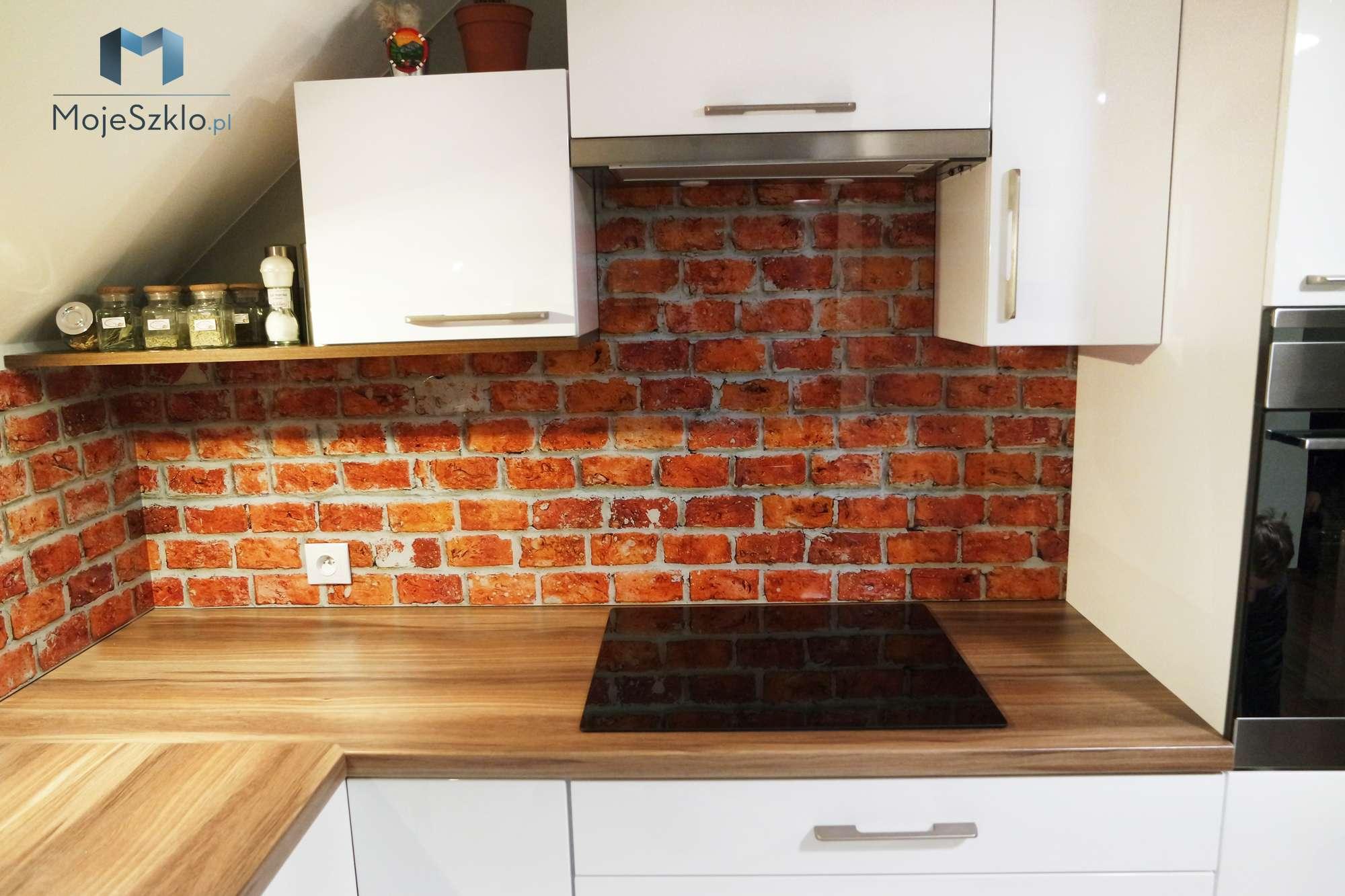 Grafika Do Kuchni Cegly - Szklane panele kuchenne. Najlepsze wzory do kuchni