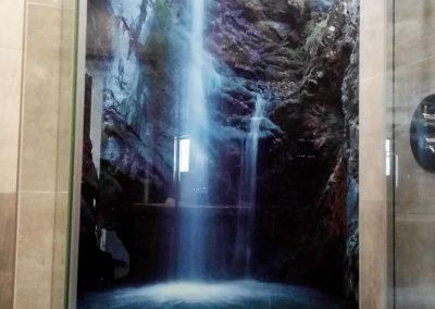 Grafika Na Szkle Kabina Wodospad