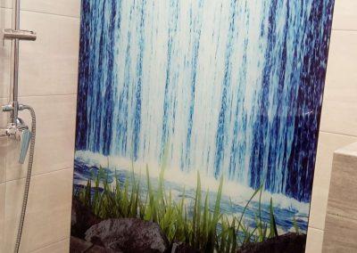 Grafika Na Szkle Wodospad Kabina