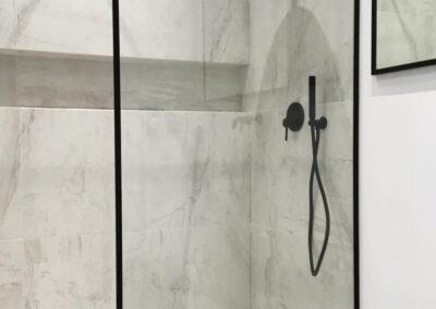Kabina Prysznicowa Czarne Okucia