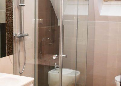 Kabina Prysznicowa Przyscienna Dwuskrzydlowa