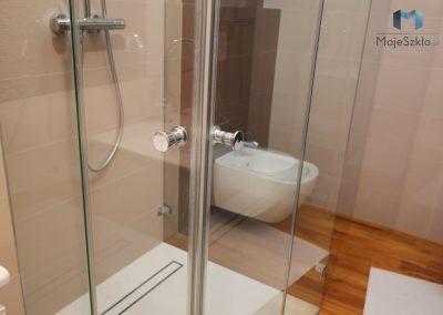 Kabina Prysznicowa Przyscienna Podwojne Drzwi