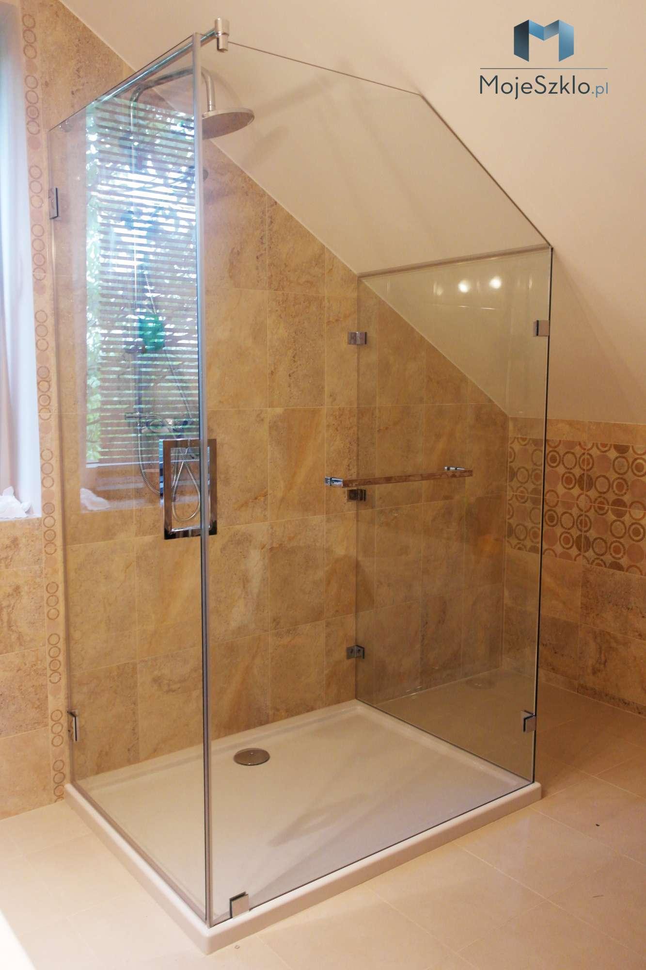 Kabina Przyscienna Ze Skosem - Kabina prysznicowa przyścienna na wymiar