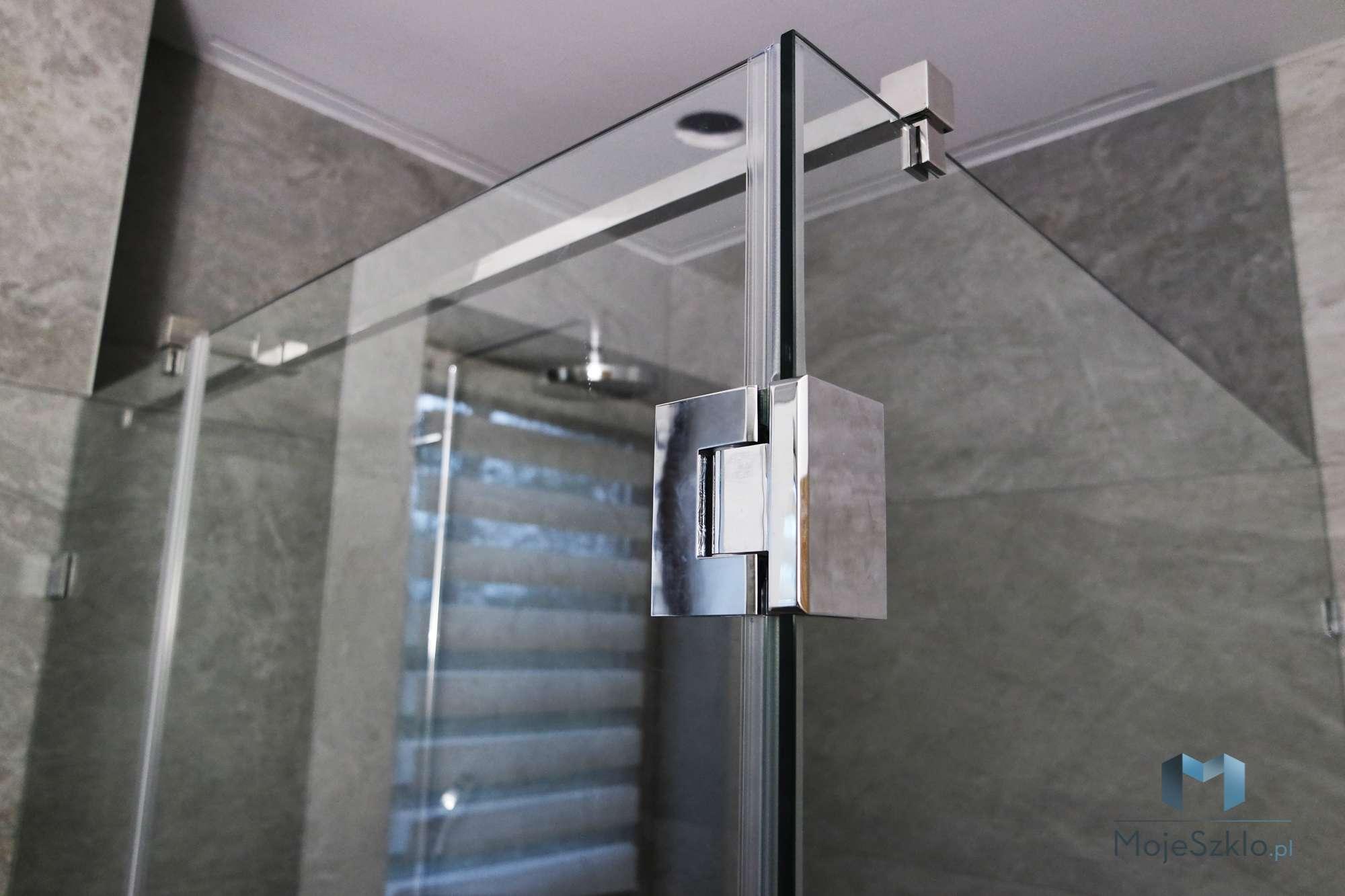 Kabiny Narozne Trojelementowe Na Wymiar - Szklane półki do łazienki na wymiar