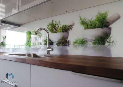 Kuchnia Grafika Na Szkle Ziola