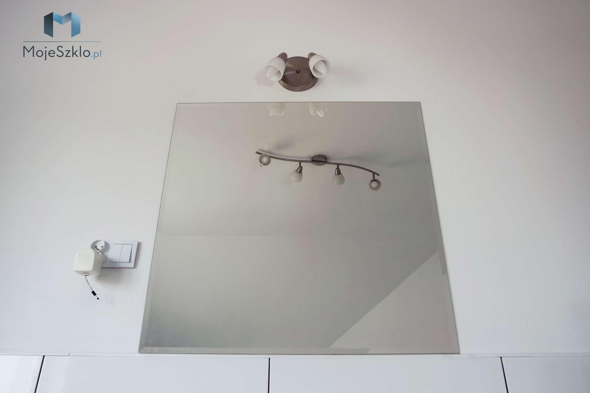 Kwadratowe Lustro Z Faza - Lustra łazienkowe. Lustro do łazienki na wymiar