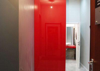 Lacobel Czerwony Panel Na Scianie