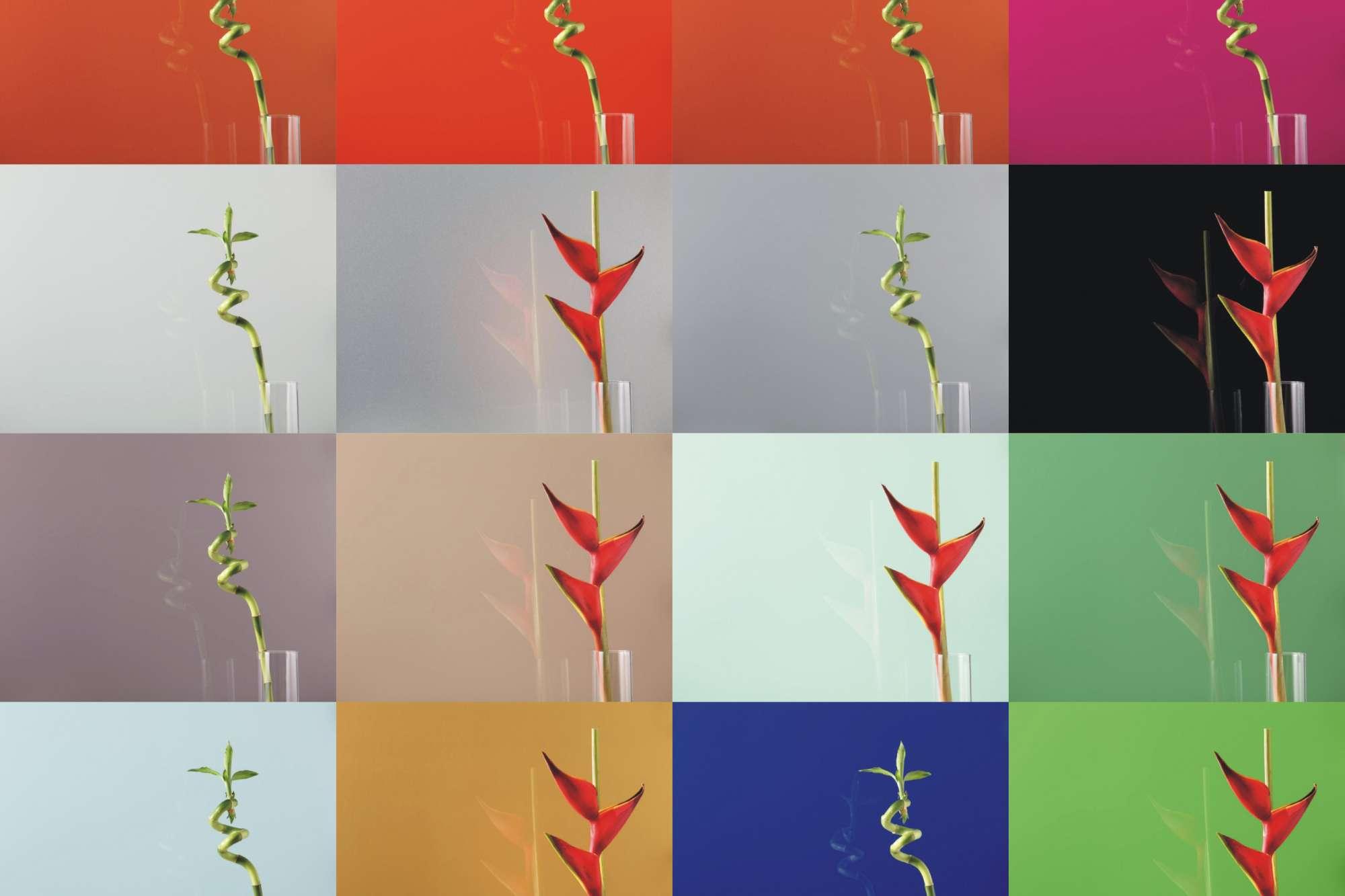 Lacobel Kolory Paleta Kolorow Krakow - Lustra dekoracyjne w realizacjach komercyjnych