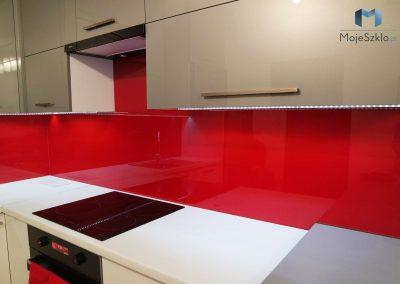 Lacobel Na Wymiar Czerwien Kuchnia