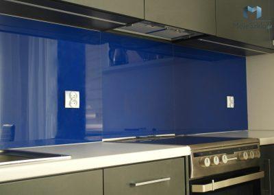 Lacobel Niebieski Szklo Kuchenne