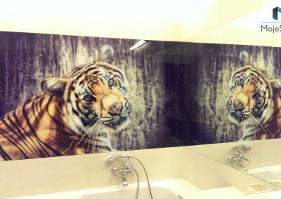 Lacobel Wzory Lazienka Tygrys