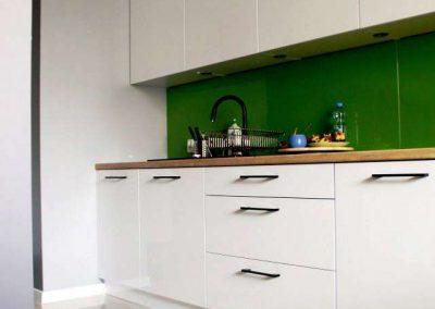 Lacobel Zielony Panel Szklany 1164