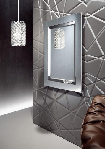 Lustro Krysztalowe Modena - Lustro w ramie I Ramy aluminiowe, drewniane, lustrzane