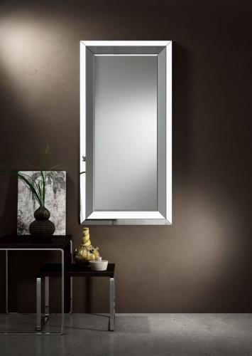 Lustro Ozdobne Ancona Argento - Lustro w ramie I Ramy aluminiowe, drewniane, lustrzane