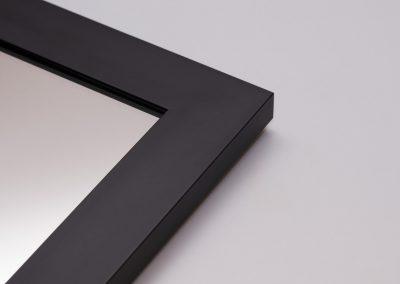 Lustro W Czarnej Ramie 45x21
