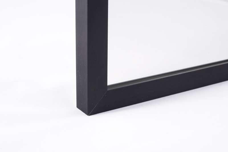 Lustro W Czarnej Ramie M01 - Lustro w czarnej ramie w aranżacji wnętrz