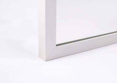Lustro W Ramie Aluminium 19x21