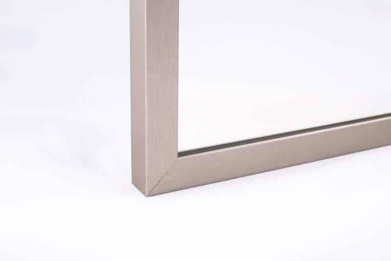 Lustro W Ramie M01 Inox - Lustro w ramie I Ramy aluminiowe, drewniane, lustrzane