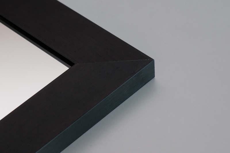 Lustro w czarnej ramie M06 - Lustro w czarnej ramie w aranżacji wnętrz