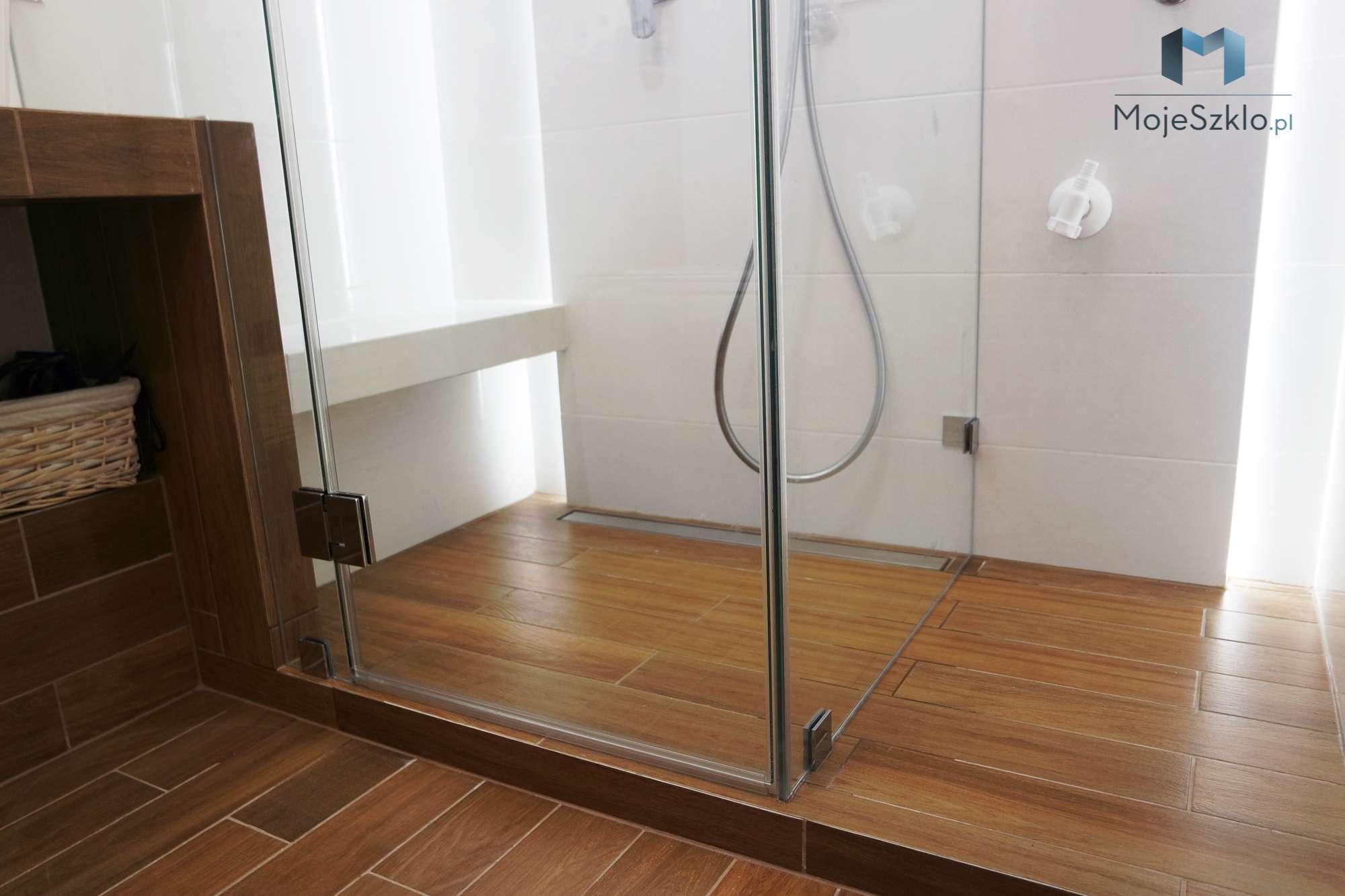 Narozna Kabina Trzyelementowa Z Wycieciem - Kabiny prysznicowe wnękowe na wymiar