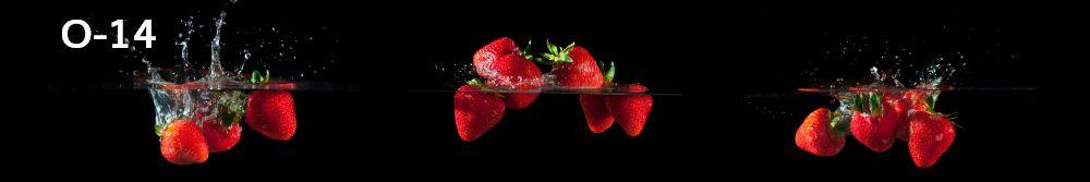 Panele-Szklane - owoce O14