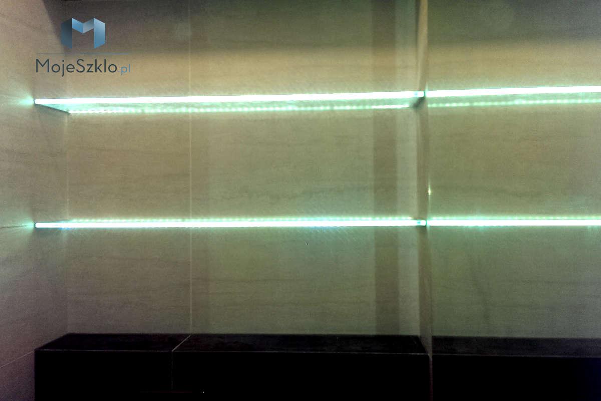 Półki Szklane Oświetlenie LED - Szklane półki czyli ozdobny element do łazienki i salonu