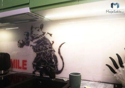 Panel Szklany Do Kuchni Banksy