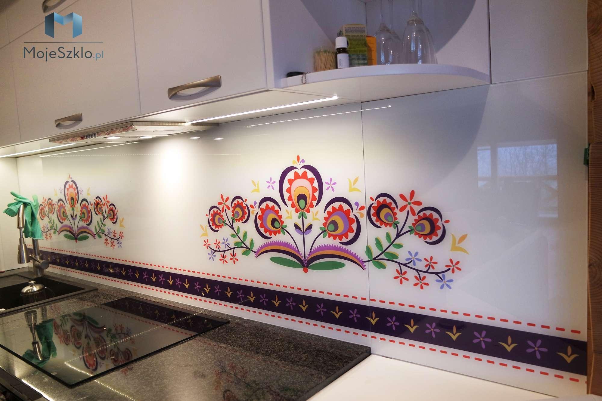 Panel Szklany Do Kuchni Folklor - Lacobel wzory. Różne motywy grafiki na szkle