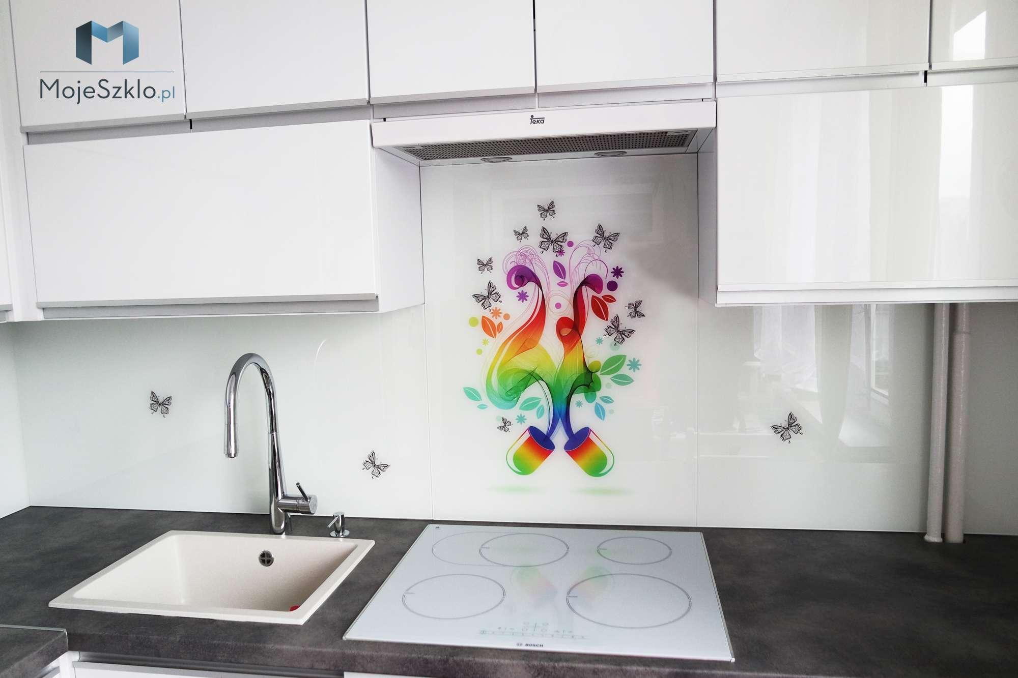 Panel Szklany Do Kuchni Grafika - Szkło hartowane do kuchni z nadrukiem miasta