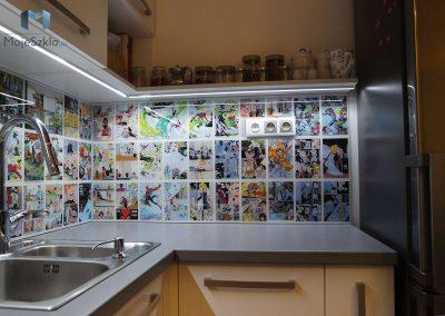 Panel Szklany Do Kuchni Komiks