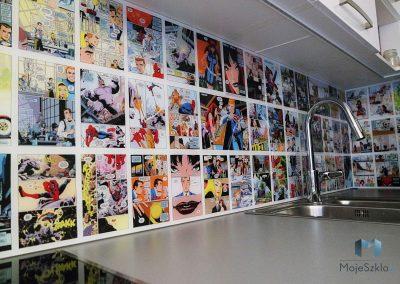 Panel Szklany Do Kuchni Komiksy