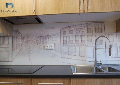 Panel Szklany Do Kuchni Miasto