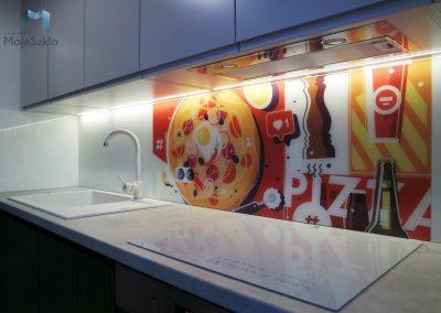 Panel Szklany Do Kuchni Pizza