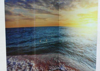 Panel Szklany Kuchnia Morze