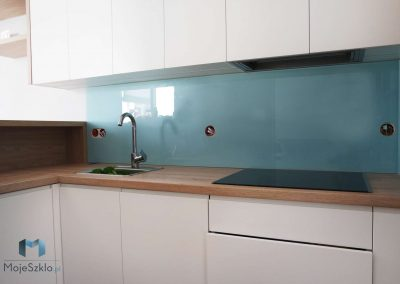 Panel Szklany Kuchnia Niebieski