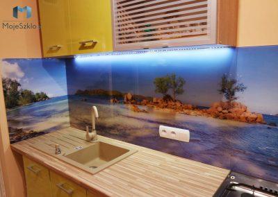 Panel Szklany Morze Kuchnia