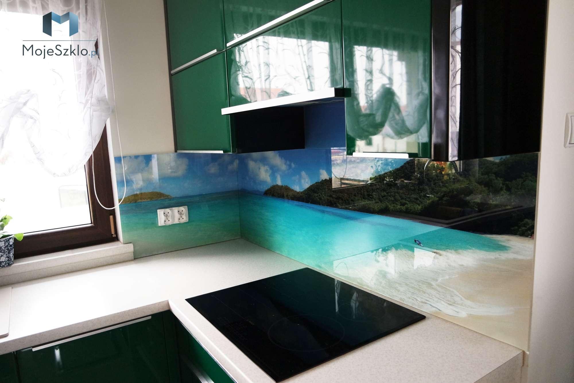 Panel Szklany Ocean Plaza - Szkło na ścianę z nadrukiem napoje