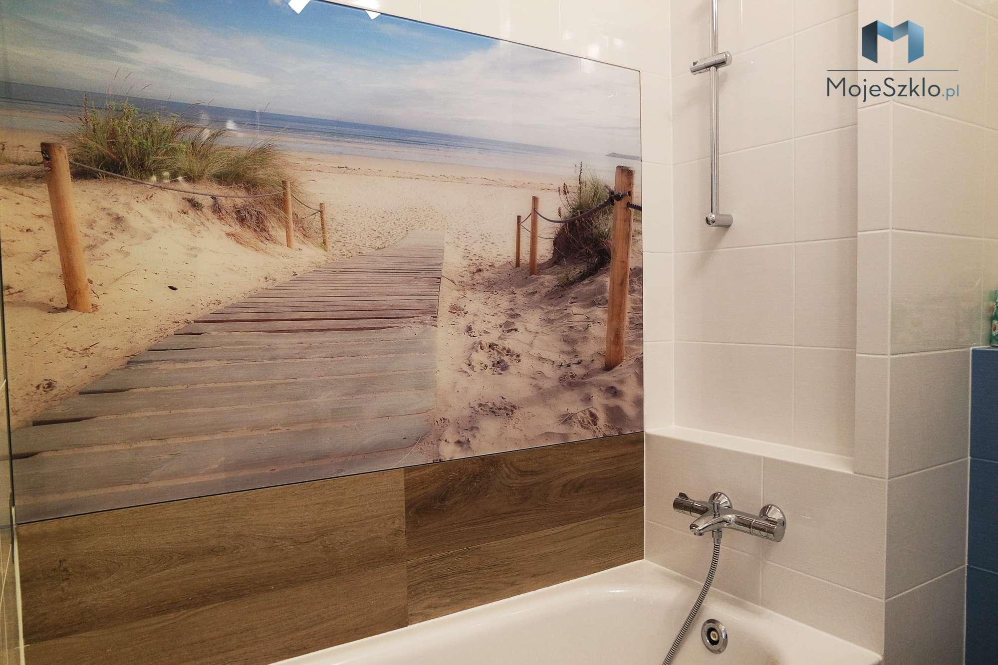 Panel Szklany Plaza Lazienka - Panel szklany plaża, krajobraz morski
